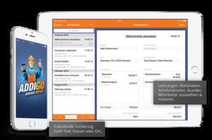 Servicebericht in der ADDIGO App