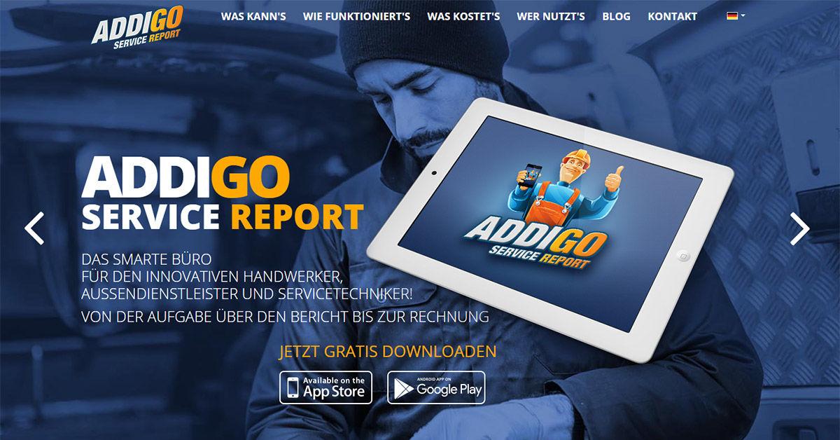 Ihr Smartes Büro Im Außendienst Addigo Service Report